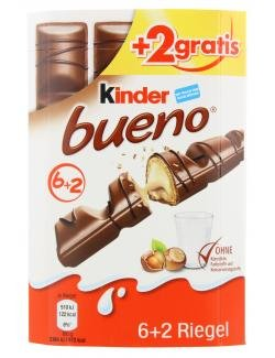 Kinder Bueno 6 Riegel Schokolade - 129g