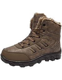 Magiyard Mode Loisir Hommes Chaussure Rond Tête Garder au Chaud  Antidérapant Porter résistant Bottes ... b3e5dd632b52
