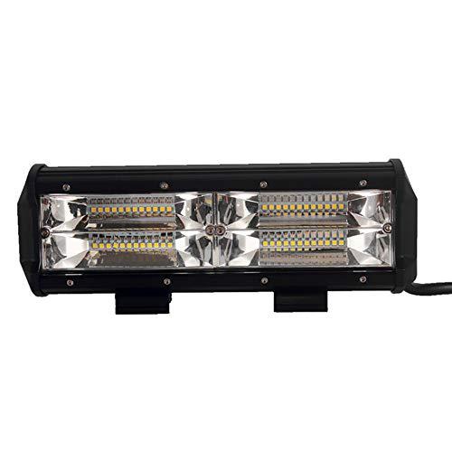 Barra Luminosa A LED, Faro Da Lavoro CREE Faro Per Auto Proiettore Faretto A Fascio Combinato Luci Esterne Impermeabile IP68 SUV Off Road Boat Driving Lighting, 12V 24V, 108W