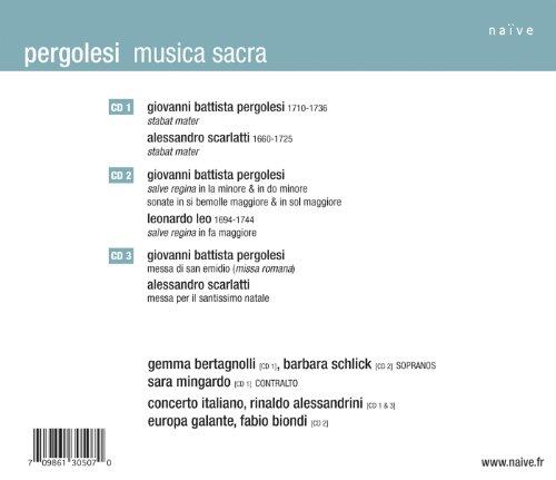 Pergolèse : Stabat Mater / Salve Regina / Messa (Coffret 3 CD)