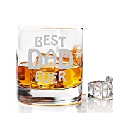 Best Male Birthday Gifts - Incrizma Whisky Glass with Engraving Best Dad Ever Review
