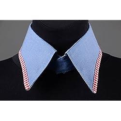 Cuello postizo hecho a mano de tela vaquera bisuteria fina regalo personalizado