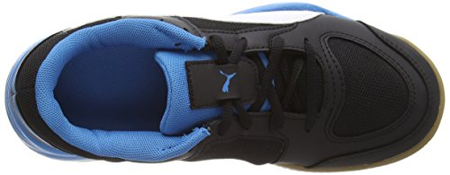 Puma Veloz Indoor II, Chaussures Multisport Indoor mixte adulte Noir - Schwarz (black-white-cloisonné 01)