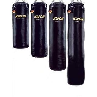 Kwon Boxsack 150 cm Sandsack Ø 35cm GEFÜLLT 75 Kg inkl. Deckenhalterung + Kette + Drehwirbel