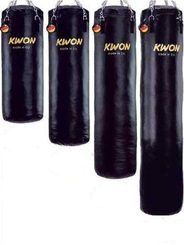 Kwon Boxsack 180 cm Sandsack Ø 35cm GEFÜLLT 90 Kg inkl. Deckenhalterung + Kette + Drehwirbel