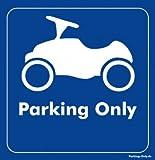 Parking Only - BOBBY-Car - Parkplatz Aufkleber