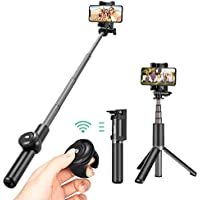 Palo Selfie Trípode Bluetooth para Móvil, Bagotte Bluetooth Extensible Remoto Portátil Universal Inalámbrico Palos Selfie