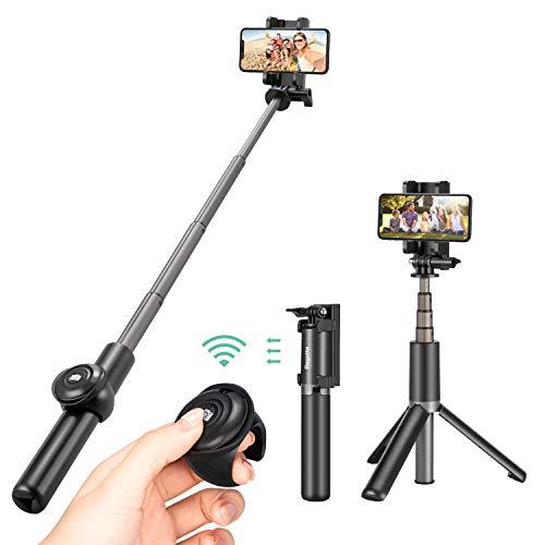 Bagotte Palo Selfie Tripode, Bluetooth Palo Selfie Movil con Control remoto, Tripode Para...