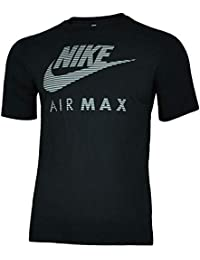 3304ab2be6ed2 Nike Air Max Application Tee Hommes Chemise T-Shirt Coton Fitness Sport Noir