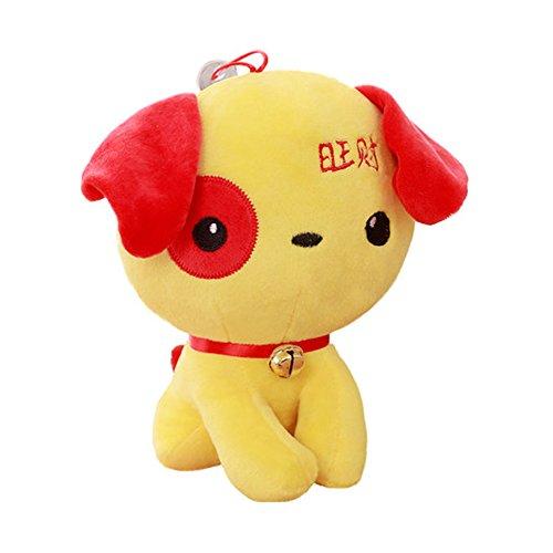 Plüsch-Spielzeug-Hunde-nette Puppe Mongkok-Hundeglück-Geschenke des neuen Jahres, C5 Hund Ausgestopfte Tiere Spielzeug