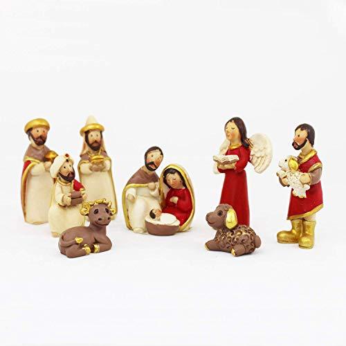 Krippenfiguren Set 5cm - 8 Teile | Weihnachtsartikel Heilige Familie und 3 Könige 5 cm | Krippen | Krippenfiguren-Set | Krippenfiguren