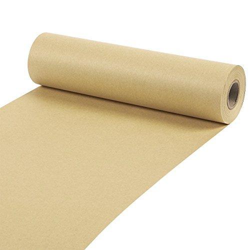 Packpapier-Rollevon Juvale - Kraftpapier-Rolle als Verpackungspapier, Geschenkverpackung, für Bastelarbeiten, zum Versand - Braun - 25,4 cm breit, 30,5 m lang