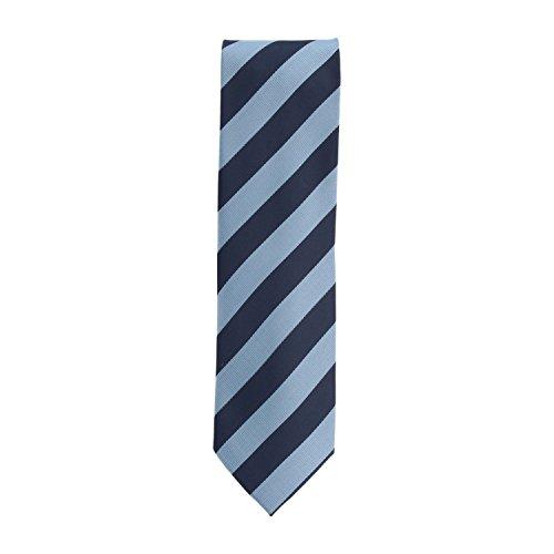 Basic Ties corbata Poliéster azul de rayas 8 cm
