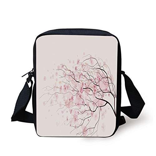 LULABE Light Pink,Artistic Sakura Branch with Cherry Flowers Tender Japanese Spring Decorative,Light...