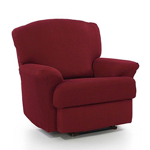Homescapes - Housse de fauteuil relax intégrale élastique et protectrice, pour la maison, salon & chambre - Bordeau