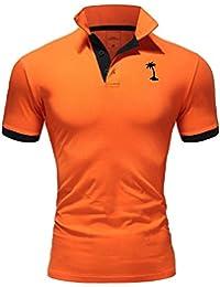 aafc85a2504b Ombre-Eight Herren Poloshirt Kontrast T-Shirt Kurzarm Polo O-222
