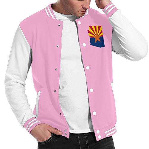 Patrick R Garrett Mode Unisex Baseball Uniform Jacke Sport Mantel Flag_map_of_Arizona Herren Damen Erwachsenen Sweatshirt Outwear Lined Hooded Full Zip Sweatshirt