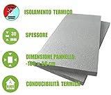 ITALFROM - Pannello da 3 cm di EPS con Grafite per Isolamento Termico Polistirolo Grigio (Confezione da 10 Pezzi)