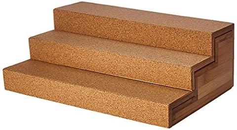 Lipper International 8808en bambou et en liège extensible à 3étages Step étagère