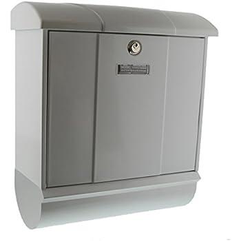 Norme UE EN 13724 Comfort-Set 91300 W Blanc Acier Galvanis/é BURG-W/ÄCHTER Bo/îte aux Lettres avec Porte-Journaux Int/égr/é Format de Fente : A4