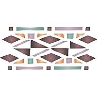 muebles paredes de suelos tela Plantilla para guardería small Uso en proyectos de papel madera diarios diseño de flores y pájaros álbumes de recortes vidrio etc Reutilizable y estilizada