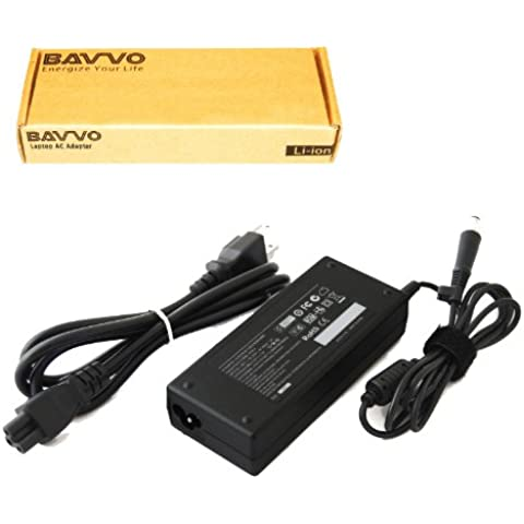 HP Pavilion dv4-1100 Series,7.4mm*5.0mm Cargador Adaptador - cable de alimentación europeo incluido - Bavvo® 90W Alimentación Adaptador para Ordenador PC