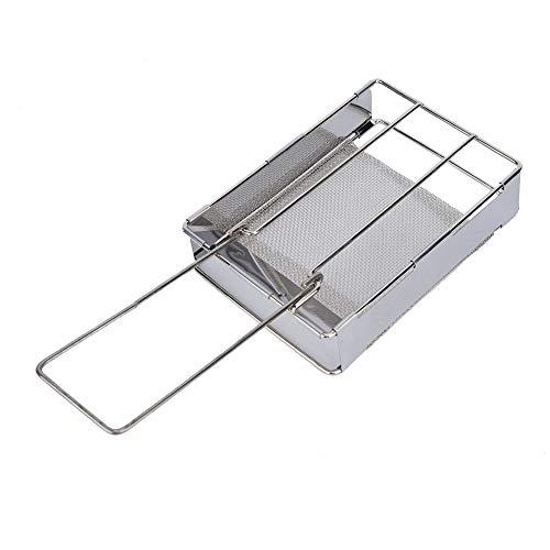 Simlug Grillrost für Brotwurst Edelstahl Mini tragbarer Klappgrillrost -