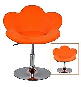 """ts-ideen 6533 Sgabello poltroncina """"Fiore Arancio"""" da bar, girevole, color arancio."""