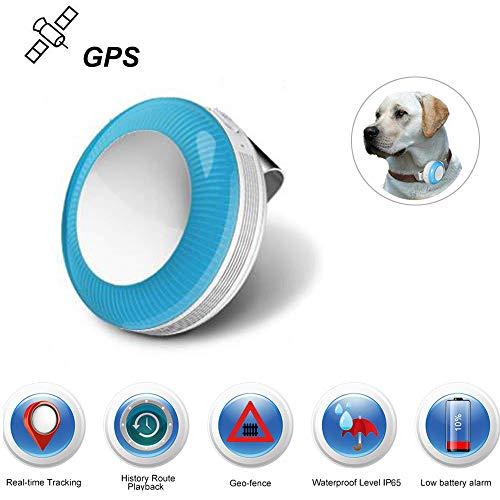 Mini Localizador GPS, GPS Tracker para Mascotas Perros/Seguimiento en Tiempo Real/Geo-Valla/Historia Ruta...