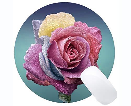 Gaming Mouse Mat, Rose Blume - Genähte Kanten Romantica Rosen