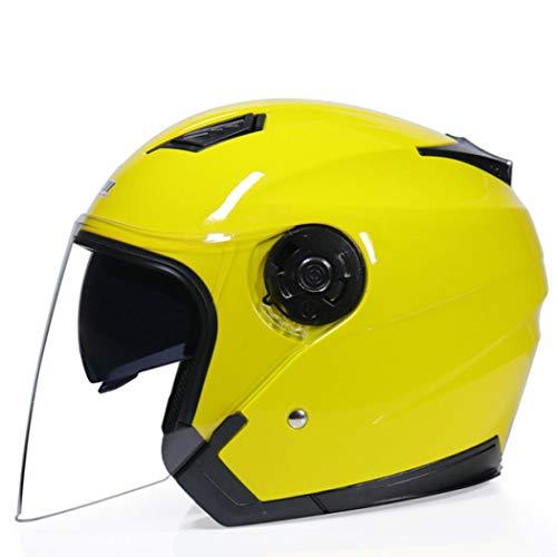 OLEEKA Motorradhelm Elektro Fahrradhelm Jethelm Doppelvisier Herren Damen Sommer Roller Motorrad Moto Bike Helme (Kleine Mädchen, Die Elektro-roller)