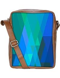 Snoogg Stripes Forming Rhombuses 2796 Sling Bags Crossbody Backpack Chest Daypack Travel Bag Book Bag For Men&...