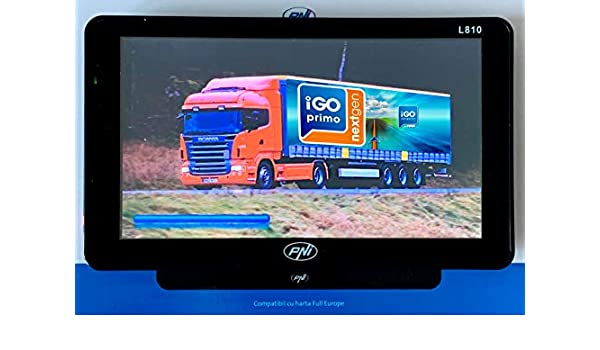 Sistema di Navigazione GPS L810 7 Pollici LKW Truck iGO Primo Full Europe 2018 PKW PNI