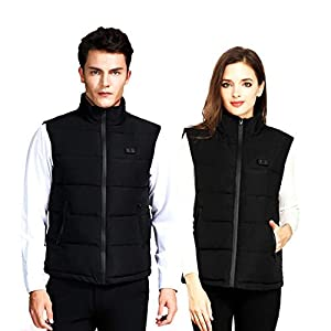 Jinclonder Intelligent Heated Vest, USB Charging Three-Speed Adjustment Temperature Clothes for Outdoor Sport