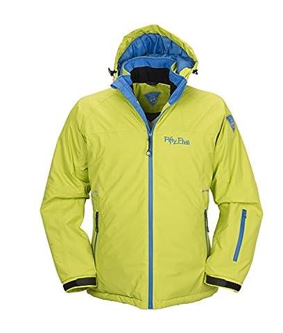 Ski-Jacke Snowboard-Jacken für Damen von Fifty Five - Glory lime/royal 46 - winddicht und wasserdicht mit FIVE-TEX Membrane für Outdoor-Bekleidung