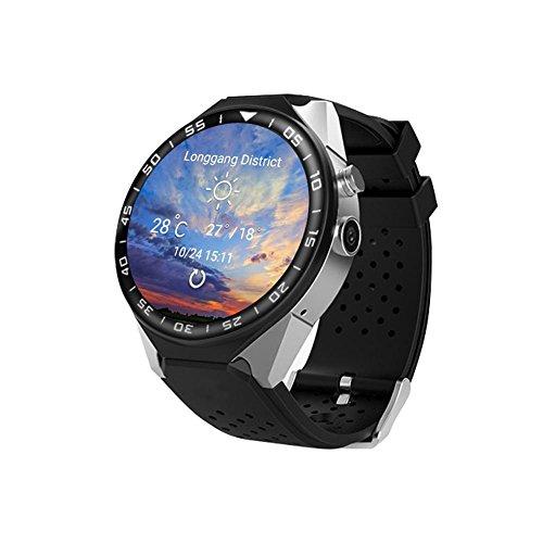 Gps-Navigation Herzfrequenz 3G-Karte Hd-Kamera-Bildschirm Smart Watch Telefon Unterstützt Eine Vielzahl Von Sprachen , silver black -