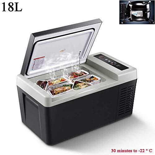 YNWJ 18L Nevera Portatil 12V Compresor 24V 220V Nevera Electrica Mini Refrigerador del Coche Nevera Coche Vehículo Acampadas Oficinas,18l Black