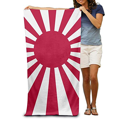 "KIMIOE Badetücher Duschtücher Strandtücher Red Sun Japan Flag Beach Towels Luxury Soft Eco-Friendly Printing Design Outdoors,Non-Toxic décor 31""x 51""in"