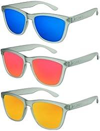 X-CRUZE® Nerd Sonnenbrille polarisiert Retro Vintage Style Stil Unisex Brille X0