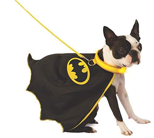 DC Batman Cape mit leuchtendem Halsband und Leine, Größe ()