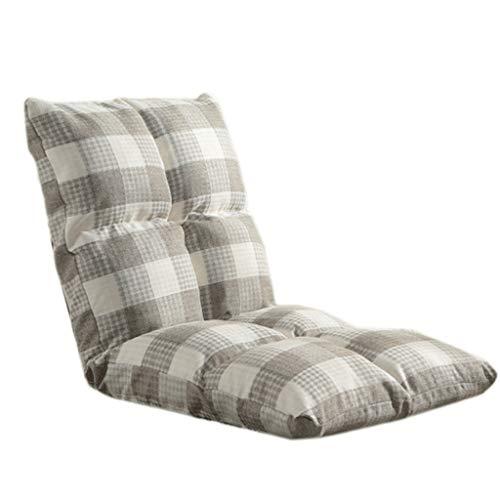 C-K-P Canapé, canapé paresseux, chaise d'ordinateur simple, pliable, chaise de fenêtre arrière simple (Couleur : Gray)