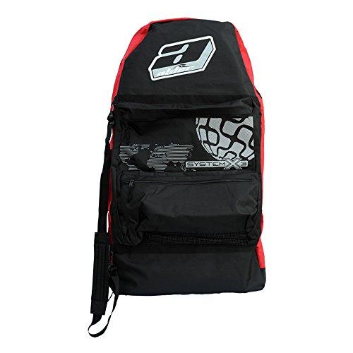 Alder System X3 Tasche für drei Bodyboards 111.76 cm, Rot/Schwarz