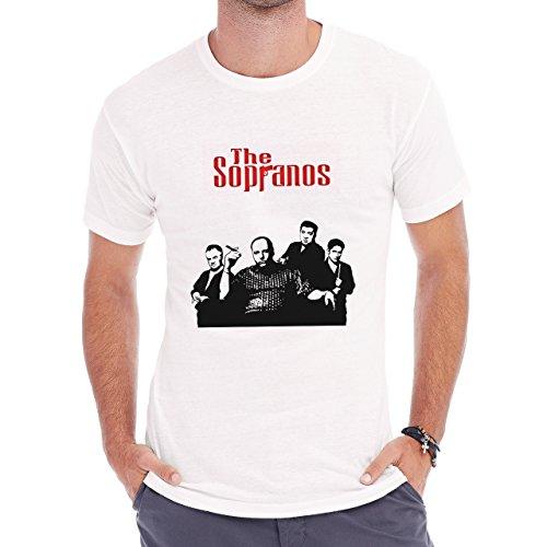 The Sopranos Gandolfini Poster Herren T-Shirt Weiß