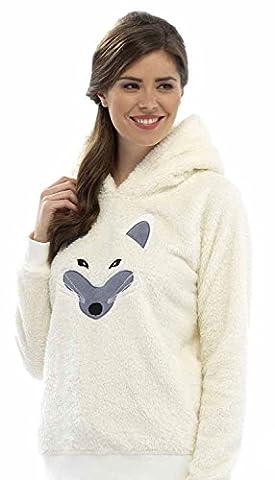 Foxbury - Haut de pyjama polaire à motif animal - Femme (Medium) (Renard)