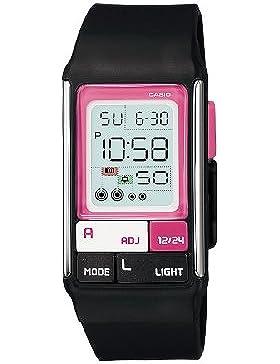 Casio Damen-Armbanduhr Digital Kunststoff schwarz LDF-52-1AEF