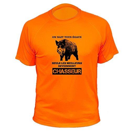 Tee Shirt Chasse on Naît Tous égaux, Seuls Les Meilleurs Deviennent Chasseurs Sanglier (SUTEO142-3XL)