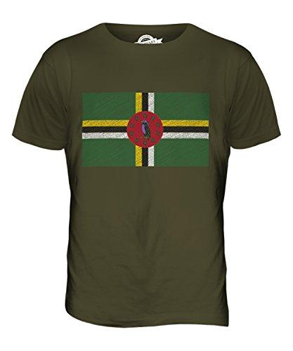 CandyMix Dominica Kritzelte Flagge Herren T Shirt Khaki Grün