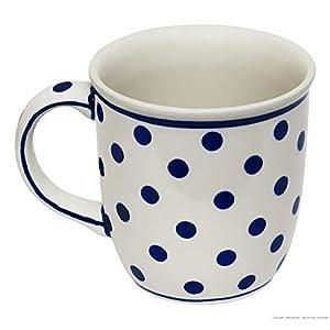 Polish Pottery Boleslawiec Mug, Curvy, 0.35L in DOTTY pattern