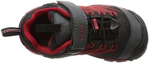 Keen Unisex-Kinder Chandler Cnx Trekking-& Wanderhalbschuhe, Grau (Magnet/Tango Red), 36 EU -