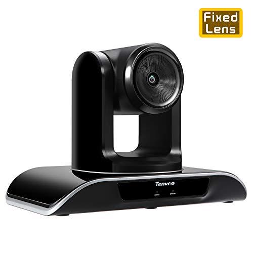 Tenveo Videokonferenzsystem Konferenzkamera Webcam Videokonferenzen meetup Camcorder für Konferenzraum,Klassenzimmer,Kirche, Full HD 1080P USB PTZ-Kamera(TEVO-VHD1080 Pro)